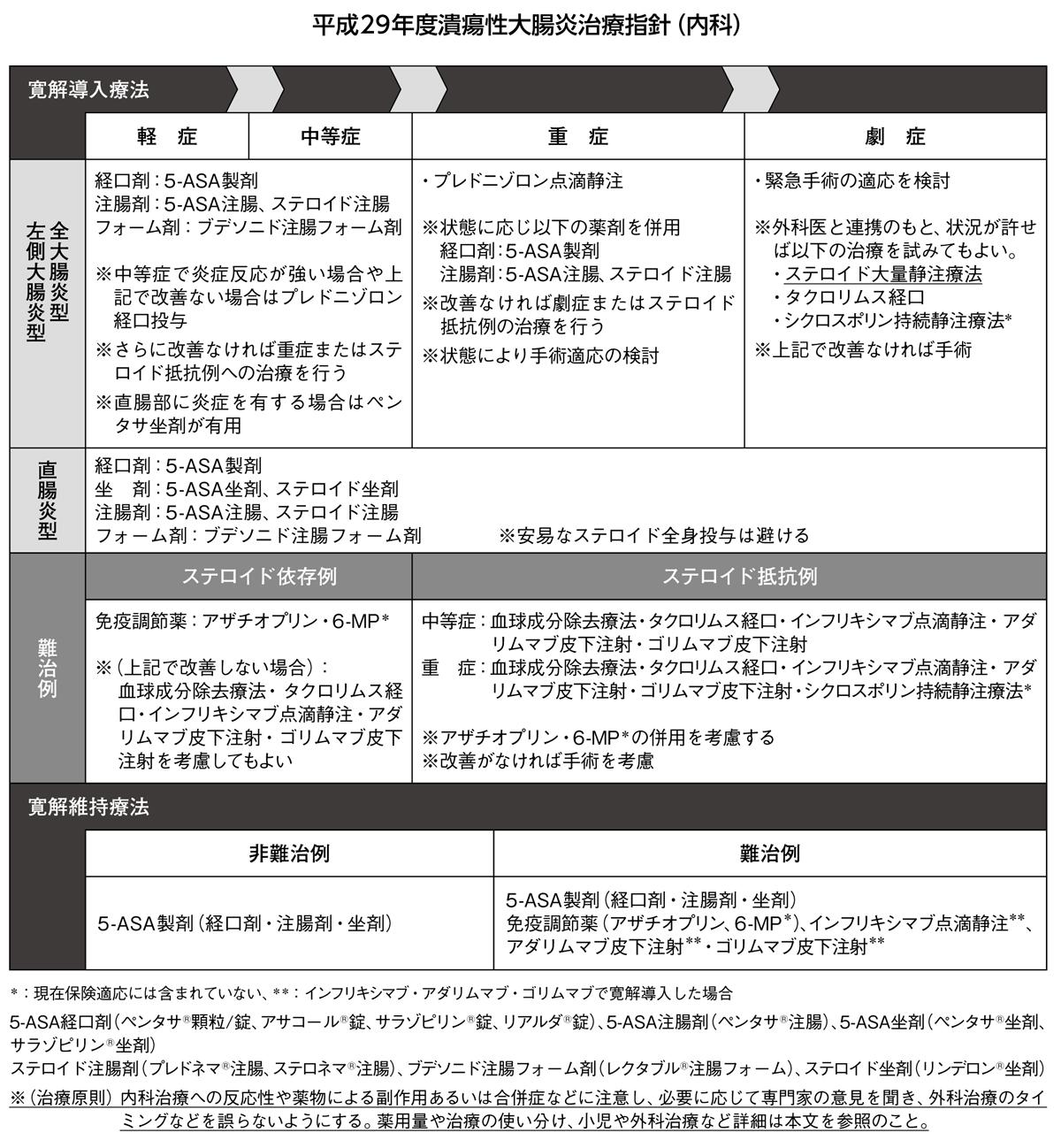平成29年度潰瘍性大腸炎治療指針(内科)